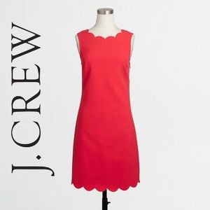 J. CREW Scalloped Dress Size 10